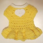 Yellow Doll Heart Dress by My Recycled Bags