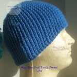 Men's Front Post Double Crochet Hat by Home Made Hats by Cheryl