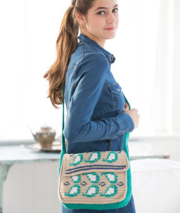 Embellished Paisley Purse by Michele Wilcox for Red Heart