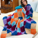 Stitch a Hug Cozy Thtow by Ashley Fox for Red Heart