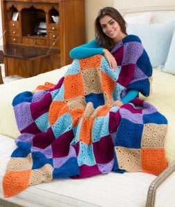 Stitch a Hug Cozy Throw by Ashley Fox for Red Heart