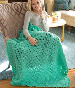 Comforts of Home Throw by Marianne Forrestal for Red Heart