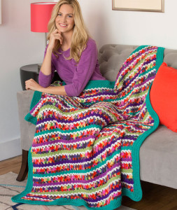 Butterfly Throw by Marianne Forrestal for Red Heart