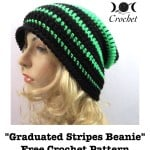 Graduated Stripes Beanie by Goddess Crochet