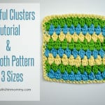 Cheerful Clusters Tutorial & Dishcloth by The Stitchin' Mommy