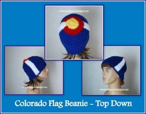 Colorado Beanie Top Down by Sara Sach of Posh Pooch Designs
