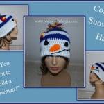 Colorado Snowman Beanie Hat by Sara Sach of Posh Pooch Designs