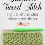 Diamond Tweed Stitch by Moogly
