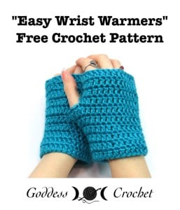 Easy Wrist Warmers by Goddess Crochet