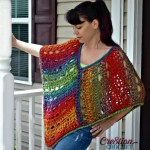 Unique Lace Poncho by Lorene Eppolite of Cre8tion Crochet