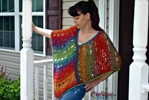 Unique Lace Poncho by Lorene Eppolite of Cre8tion Crochet