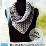 Elevated Honeycomb Cowl by Erangi Udeshika of Crochet For You