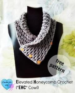 Elevated Honeycomb Cowl by Erangi Udeshika of Crochet For You