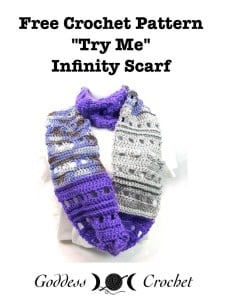 """Try Me"" Infinity Scarf by Goddess Crochet"