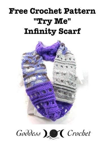 Try Me Infinity Scarf Free Crochet Pattern