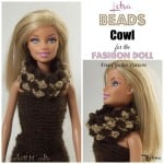 Lotsa Beads Cowl for the Fashion Doll by Rhelena of CrochetN'Crafts