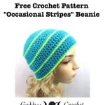 Occasional Stripes Beanie by Goddess Crochet
