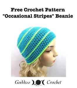 Occasional Stripes Beanie by Goddess Crochet