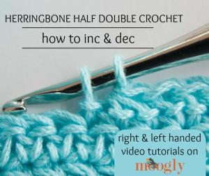 Herringbone HDC - Increases & Decreases by Moogly