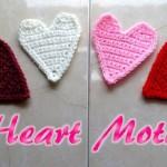 Crochet Heart Motif Applique by Meladora's Creations