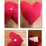 Heart Pillow/Envelope by Crochet Addict
