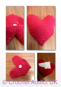 Heart Pillow/Envelope by Crochet Addict