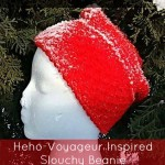 Heho-Voyageur Inspired Slouchy Beanie by Tunisian Crochet Chick for Cream Of The Crop Crochet