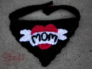 Puppy Love - I Heart Mom Bandana For Dogs by Stitch11