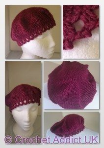 Inspired By A Kiss Beret by Crochet Addict