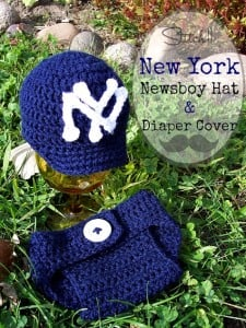 New York Newsboy Hat & Diaper Cover by Stitch11