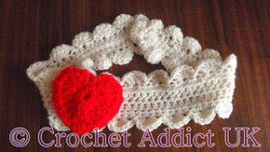 Valentine Headband by Crochet Addict