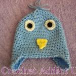 Baby Bird Earflap Newborn -12 Months Hat by Crochet Addict