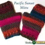 Pacific Sunset Mitts by Stitches 'N' Scraps