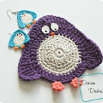 Penguin Applique or Coaster by Divine Debris