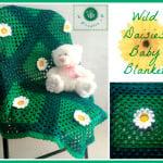 Wild Daisies Baby Blanket by Maz Kwok's Designs