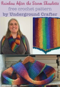 Rainbow After the Storm Shawlette by Marie Segares of Underground Crafter