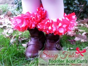 Toddler Sassy Fabric Boot Cuffs by Stitch11