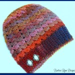 Simple Shells Slouchy Beanie by Beatrice Ryan Designs