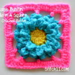 Stash Bustin' Dahlia in a Square by Stitch11