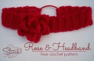 Rose and Headband by Stitch11