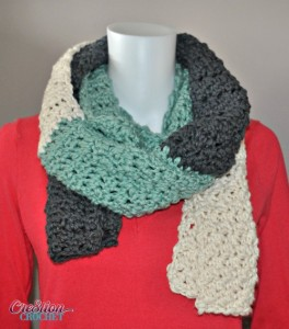 Stormy Skies Oversize Scarf by Lorene Eppolite of Cre8tion Crochet