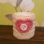 Valentine Mug Cozy by Crochet Addict