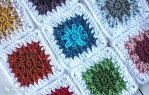 V-Stitch Flower Granny square by Repeat Crafter Me