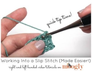 Working Into a Slip Stitch by Moogly