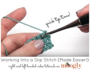 Working Into a Slip Stitch by Moogly