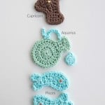 Zodiac Crochet Appliques Set #1: Capricorn, Aquarius, and Pisces by Moogly