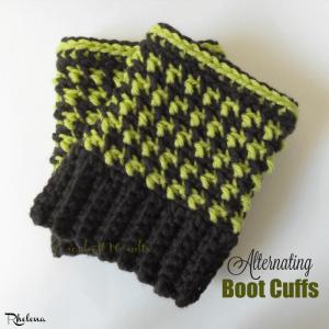 Alternating Boot Cuffs by Rhelena of CrochetN'Crafts