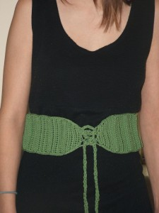 A-Maizing Ribbed Belt by Kim Guzman of CrochetKim