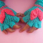 Children Fingerless Gloves by Crochet/Crosia Home