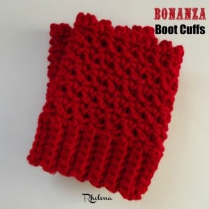 Bonanza Boot Cuffs by Rhelena for 2 Crochet Hooks